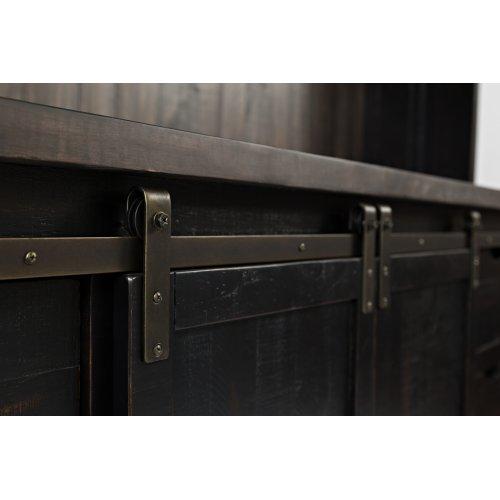 "Madison County 70"" Barn Door Server - Vintage Black"