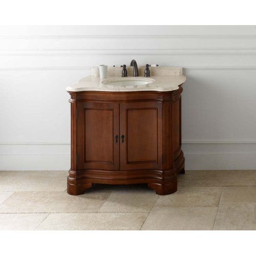 """Le Manns 36"""" Bathroom Vanity Cabinet Base in Colonial Cherry"""