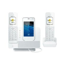 Link2Cell Digital Phone with Smartphone Integration and Answering Machine KX-PRD262W 2 Cordless Handsets