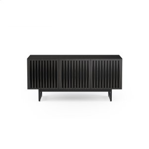 Bdi FurnitureTriple Wide Cabinet W Media Base In Tempo Doors Charcoal Stained Ash