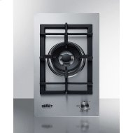 1-burner Gas Cooktop Made In Italy With A Sealed Dual-burner, Cast Iron Grate, and A 304 Grade Stainless Steel Surface