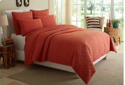 5pc King Coverlet/Duvt Coral Product Image