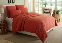 5pc King Coverlet/Duvt Coral