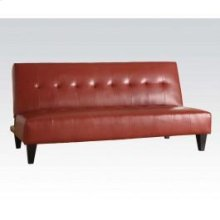 Red Pu Bycast Adjustable Sofa