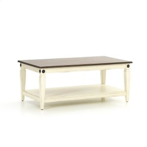 Intercon FurnitureGlennwood Coffee Table  White & Charcoal