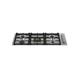 "Bertazzoni36"" Drop-in Gas Cooktop 5 Brass Burners"
