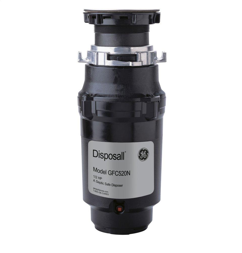 GE1/2 Hp Continuous Feed Garbage Disposer - Non-Corded
