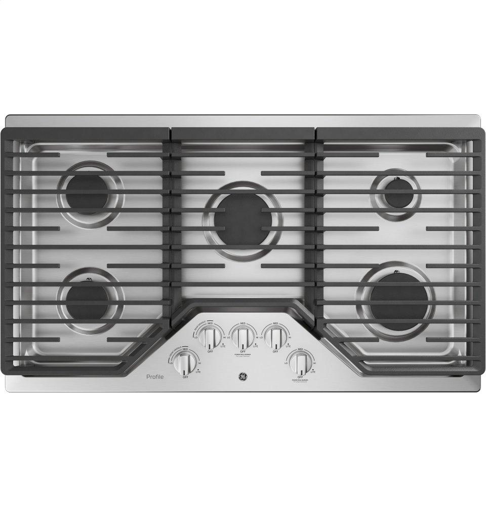 "GE Profile36"" Built-In Gas Cooktop With Optional Extra-Large Cast Iron Griddle"