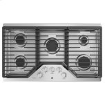 "GE ProfileGE PROFILE(TM) 36"" Built-In Gas Cooktop with Optional Extra-Large Cast Iron Griddle"