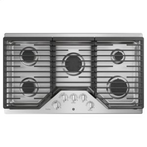 "GE ProfileGE PROFILEGE Profile™ 36"" Built-In Gas Cooktop with Optional Extra-Large Cast Iron Griddle"