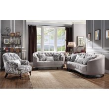 FABRIC LOVESEAT W/3 PILLOWS