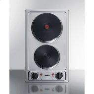 """12"""" Wide 230v 2-burner Solid Disk Cooktop"""