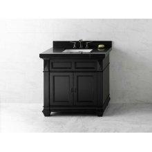"Torino 36"" Bathroom Vanity Cabinet Base in Antique Black"