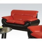 Red/black Bonded L. Loveseat Product Image