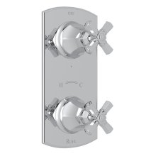 "Polished Chrome Palladian 1/2"" Thermostatic/Diverter Control Trim with Cross Handle"