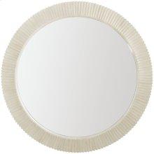 East Hampton Round Mirror in Cerused Linen (395)