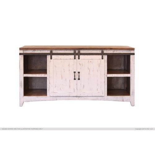 2 Sliding central doors w/ Shelves each side