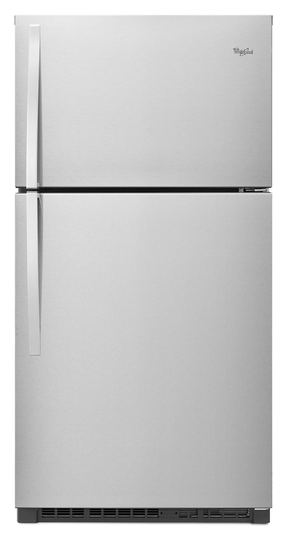 Whirlpool33-Inch Wide Top Freezer Refrigerator - 21 Cu. Ft. Monochromatic Stainless Steel