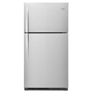 33-inch Wide Top Freezer Refrigerator - 21 cu. ft. Monochromatic Stainless Steel -