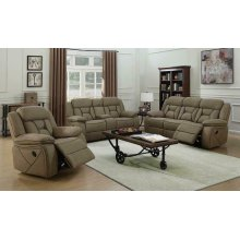 Houston Casual Tan Motion Sofa
