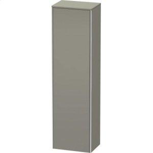 Tall Cabinet, Stone Gray Satin Matt Lacquer