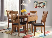 Joveen - Light Brown 5 Piece Dining Room Set