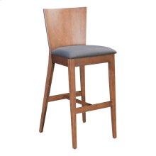 Ambrose Bar Chair Walnut & Dark Gray