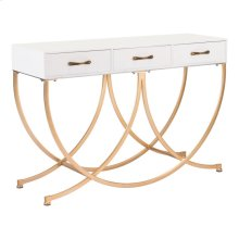 Infinity Console Table White