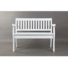 Artisan's Craft Storage Bench - Weathered White