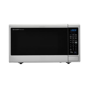 Sharp1.4 cu. ft. 1000W Sharp Black Carousel Countertop Microwave Oven
