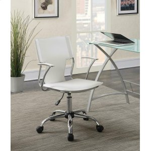 CoasterContemporary White Office Chair