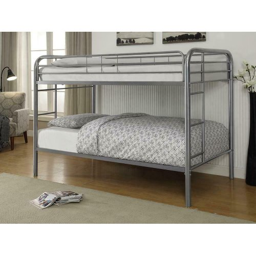 Morgan Silver Twin Bunk Bed
