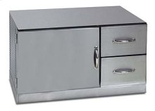 """42"""" Built-in Under Grill Refrigerator Stainless Steel"""