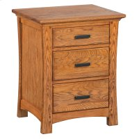 LSO 3-Drawer Prairie City Nightstand Product Image