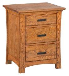 LSO 3-Drawer Prairie City Nightstand