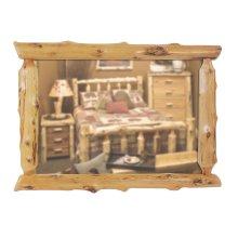 Cedar Half Log Mirror - Custom Size - Traditional Cedar