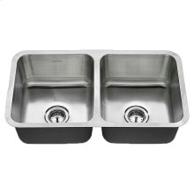 American Standard Undermount 32x18 Double Bowl Sink - Stainless Steel