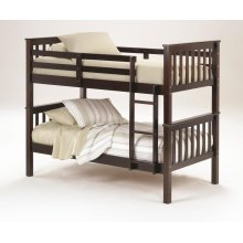 Sadler Twin over Twin Bunk Bed - Merlot