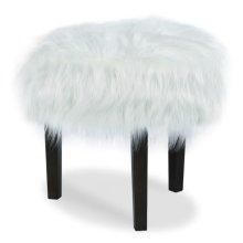 Furry Round Ottoman