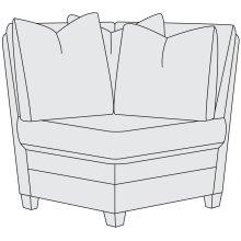 Sorenson Corner Chair in Mocha (751)
