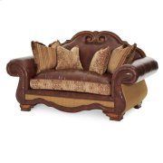 Leather/fabric Loveseat Product Image