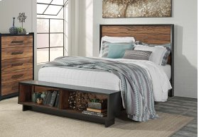 Stavani - Black/Brown 4 Piece Bed Set (Queen)