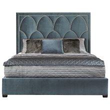 Queen-Sized Regan Upholstered Bed in Espresso