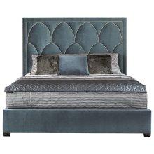 Queen-Sized Regan Upholstered Bed in Espresso