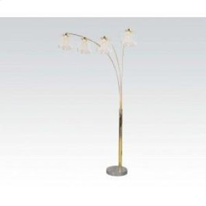 Gold Floor Lamp W/marble Base