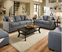 9025 Mia Sleeper Loveseat (Full Sleeper)- Denim