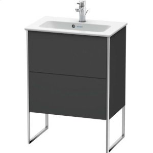Vanity Unit Floorstanding Compact, Graphite Matt (decor)