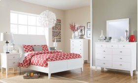 Langlor - White 2 Piece Bed Set (Queen)