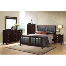 Adana 4PC Bedroom Set (BED, DRESSER, MORROW & NIGHTSTANDT) QUEEN