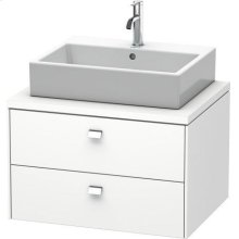 Brioso Vanity Unit For Console, White Matt